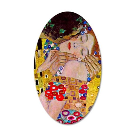 Gustav Klimt The Kiss 35x21 Oval Wall Decal