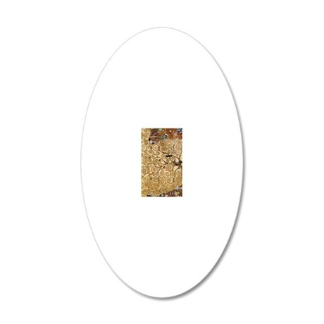 Gustav Klimt Tree Of Life 20x12 Oval Wall Decal