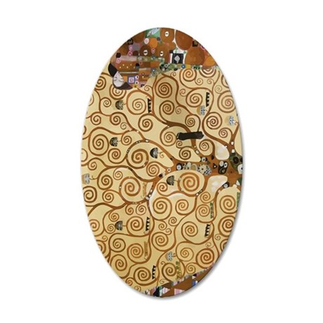 Gustav Klimt Tree Of Life 35x21 Oval Wall Decal