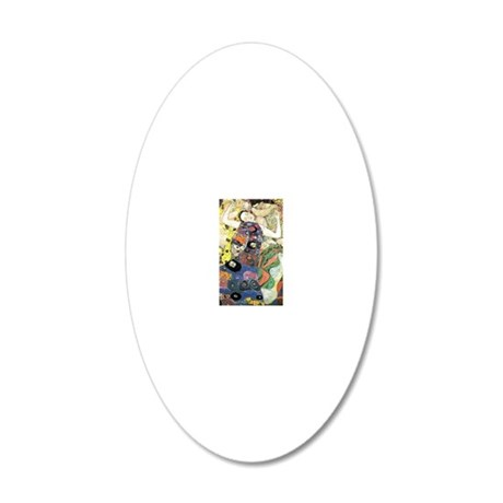 Gustav Klimt The Virgin 20x12 Oval Wall Decal