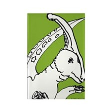 Parasaurolophus Light Green! Rectangle Magnet (10