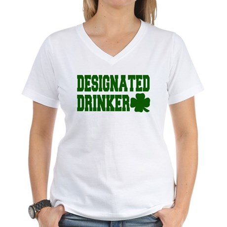 Designated Drinker Women's V-Neck T-Shirt