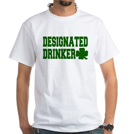 Designated Drinker White T-Shirt