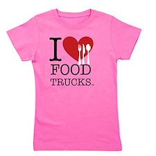 I Love Food Trucks Girl's Tee