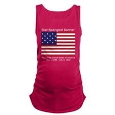 Star-Spangled Banner (Dark) Maternity Tank Top
