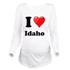 I Heart Love Idaho Long Sleeve Maternity T-Shirt