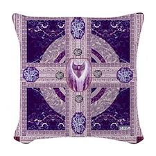 EARTH-HEART MANDALA Woven Throw Pillow