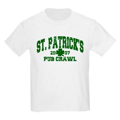 St. Pat's Pub Crawl Distressed Kids T-Shirt