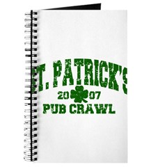 St. Pat's Pub Crawl Distressed Journal