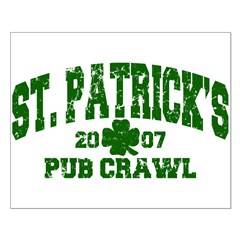 St. Pat's Pub Crawl Distressed Small Poster
