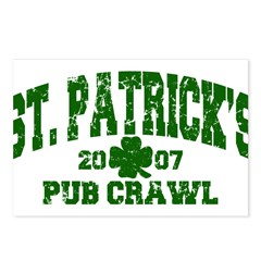 St. Pat's Pub Crawl Distressed Postcards (Package