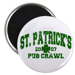 "St. Pat's Pub Crawl Distressed 2.25"" Magnet (10 pa"