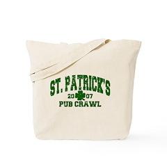 St. Pat's Pub Crawl Distressed Tote Bag