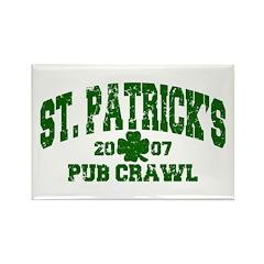 St. Pat's Pub Crawl Distressed Rectangle Magnet (1