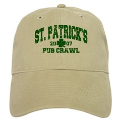 St. Pat's Pub Crawl Distressed Cap