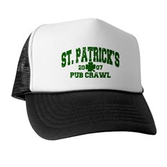 St. Pat's Pub Crawl Distressed Trucker Hat
