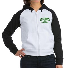 St. Pat's Pub Crawl Distressed Women's Raglan Hood