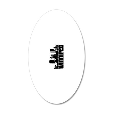 Winnipeg Skyline V 20x12 Oval Wall Decal