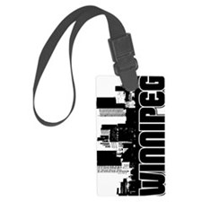 Winnipeg Skyline V Luggage Tag