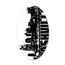 Nashville Skyline V Oval Car Magnet