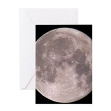 Full moon in the night sky Greeting Card