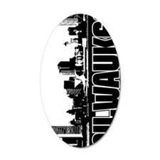 Milwaukee Skyline V Wall Decal