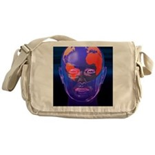 Global thought, conceptual artwork Messenger Bag