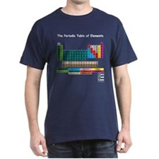 Color Coded Periodic Table T-Shirt