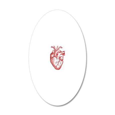 Heart 20x12 Oval Wall Decal