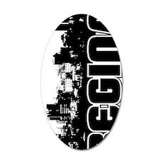Regina Skyline V 35x21 Oval Wall Decal