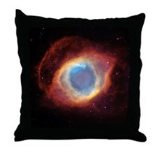 Helix nebula, HST image Throw Pillow