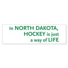 North Dakota Hockey Bumper Bumper Sticker