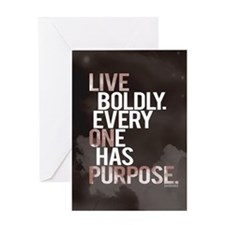Live Boldly, On Purpose Greeting Card