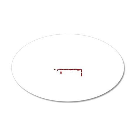 Business Major Zombie 20x12 Oval Wall Decal