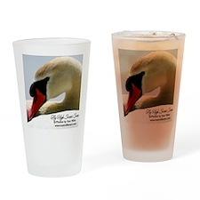 Swan Calendar Cover Drinking Glass