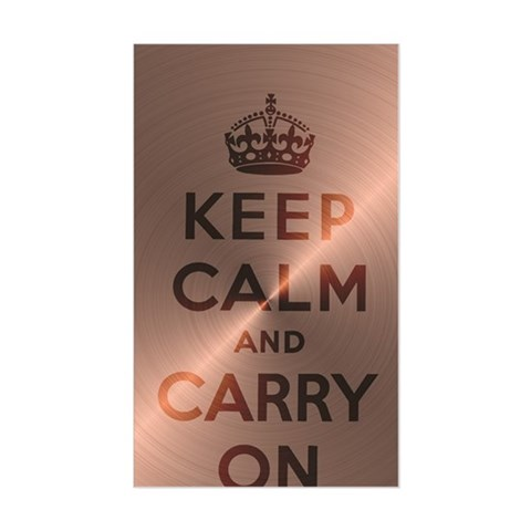 Rose Gold Keep Calm And Carry Decal