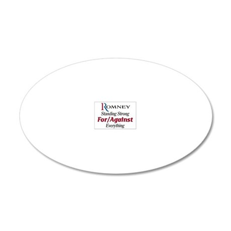 Romney For/Against Everythin 20x12 Oval Wall Decal