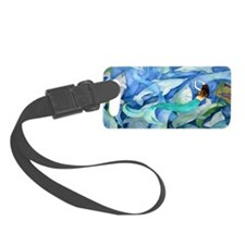 Dolphins and Mermaid party Luggage Tag