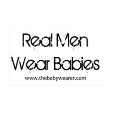 Real Men Wear Babies II Wall Decal