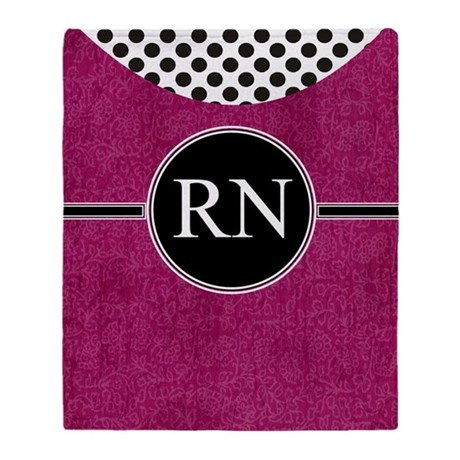 RN fuschia cases Throw Blanket