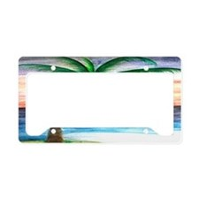 Sunset Palm Tree Art License Plate Holder