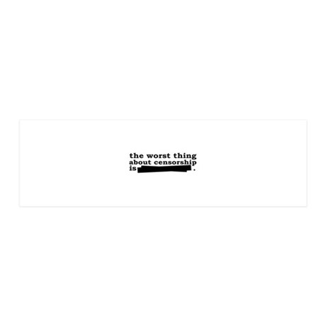 censorshipbumper 36x11 Wall Decal