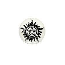 Anti-Possession Symbol Black (Cracked, Mini Button
