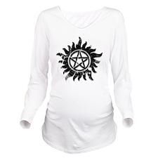 Anti-Possession Symb Long Sleeve Maternity T-Shirt