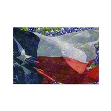 Texas flag bluebonnet card Rectangle Magnet