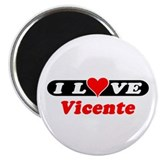 I Love Vicente 2.25&quot; Magnet (100 pack)