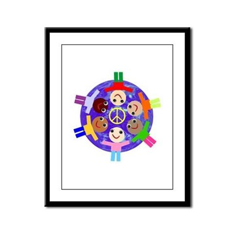 World Peace Framed Panel Print