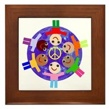 World Peace Framed Tile