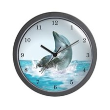 Bubble Dolphin Wall Clock