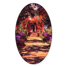 Path In Monets Garden. Decal